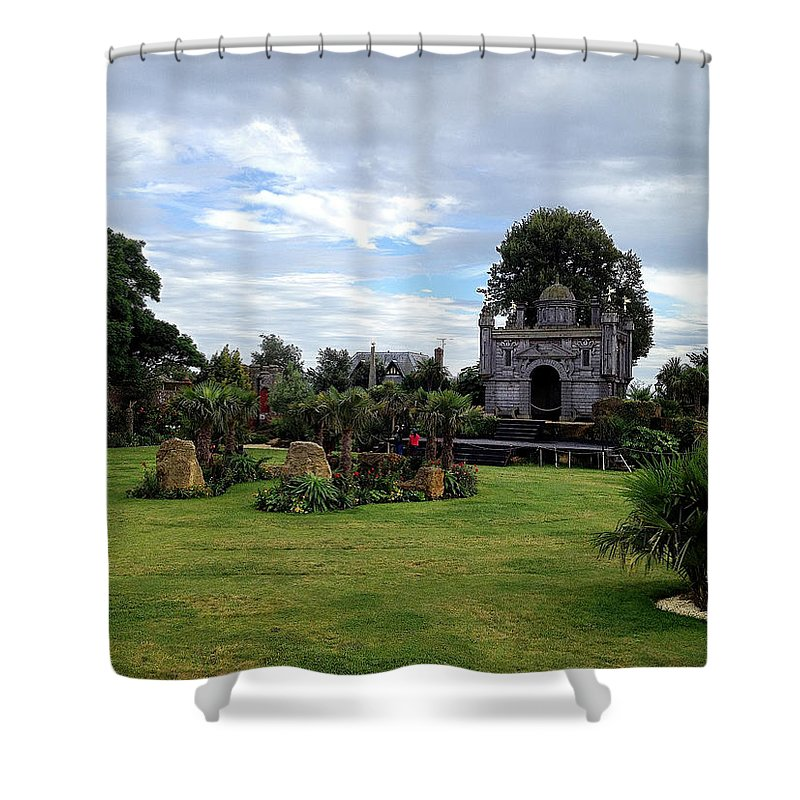 Photograph Shower Curtain featuring the photograph Tropical Garden by Nicole Parks
