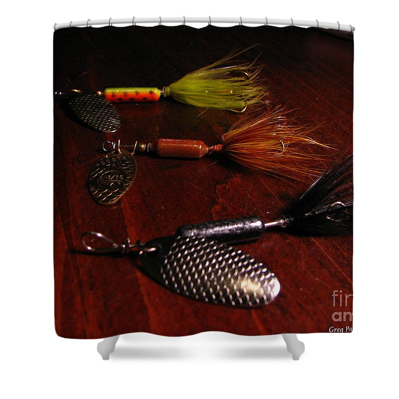 Patzer Shower Curtain featuring the photograph Trout Temptation by Greg Patzer