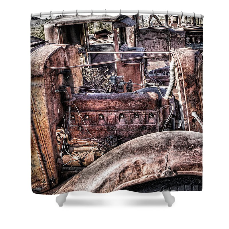 Truck Shower Curtain featuring the photograph Truck 4 by Larry White