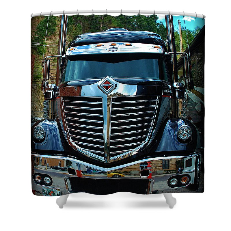 International Shower Curtain featuring the photograph Truck Face by Dany Lison