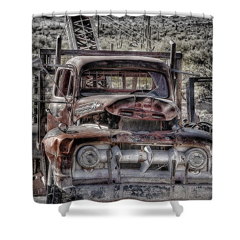 Truck Shower Curtain featuring the photograph Truck by Larry White