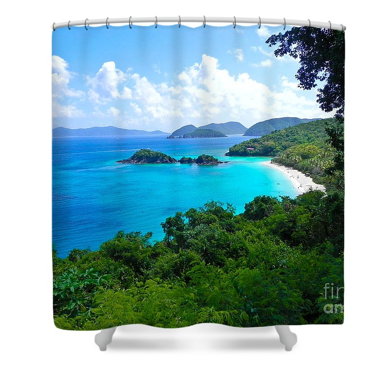 Trunk Bay Shower Curtain featuring the photograph Trunk Bay by Mary Swann