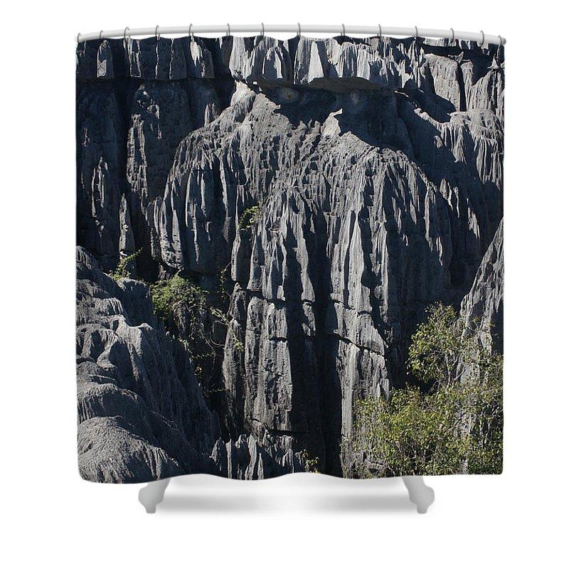 Prott Shower Curtain featuring the photograph Tsingy De Bemaraha by Rudi Prott