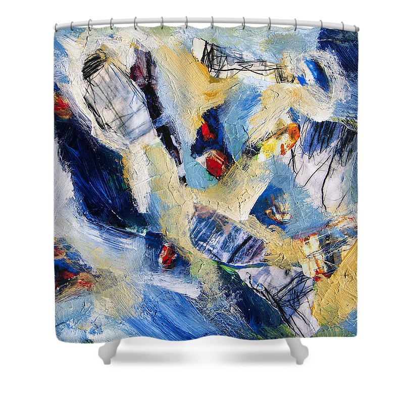 Abstract Shower Curtain featuring the painting Tsunami 2 by Dominic Piperata