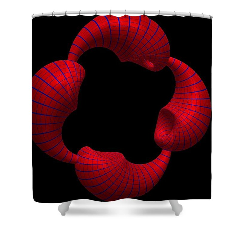 Fractal Shower Curtain featuring the painting Tubular Effect by Bruce Nutting