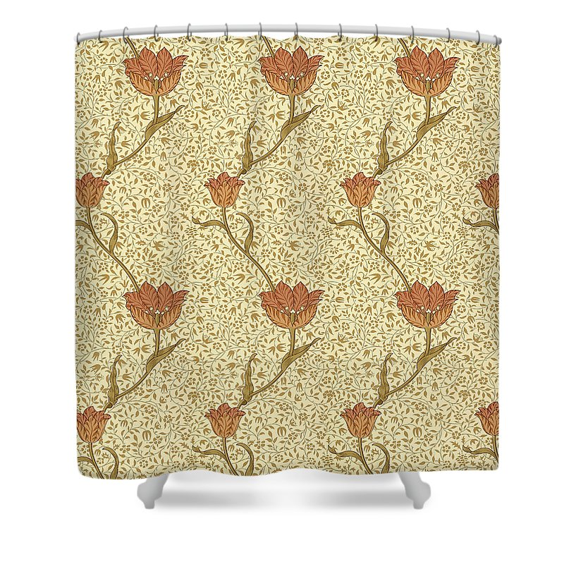 Tulip Garden By Morris Shower Curtain For Sale William