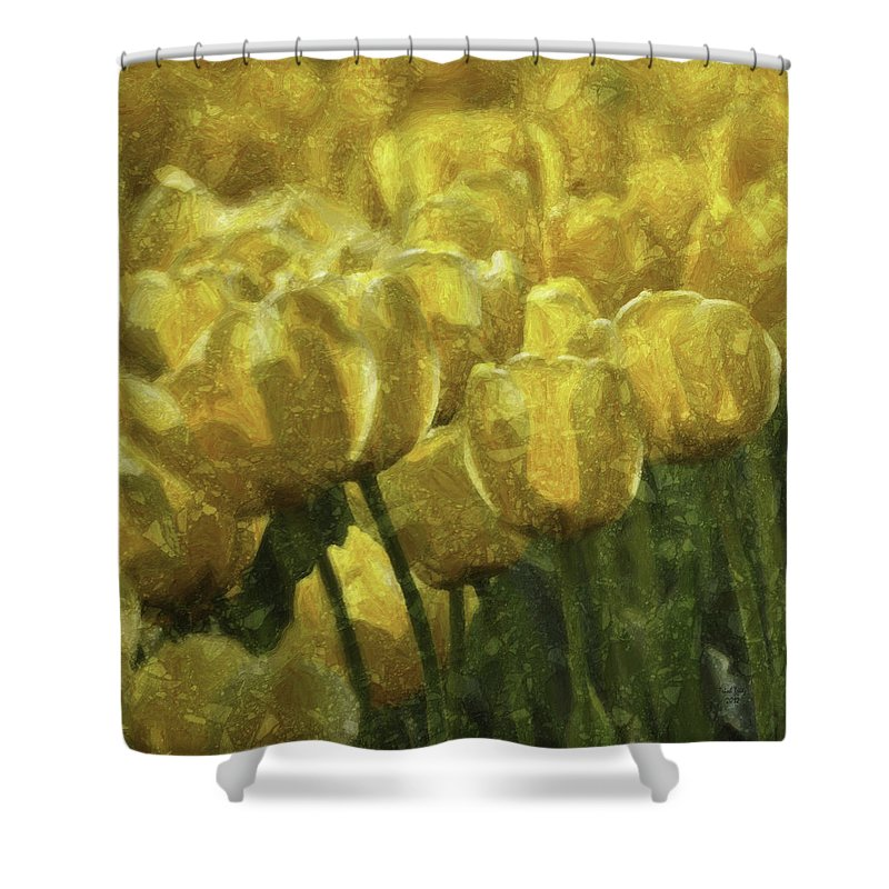 Flower Shower Curtain featuring the photograph Tulips All Over by Trish Tritz
