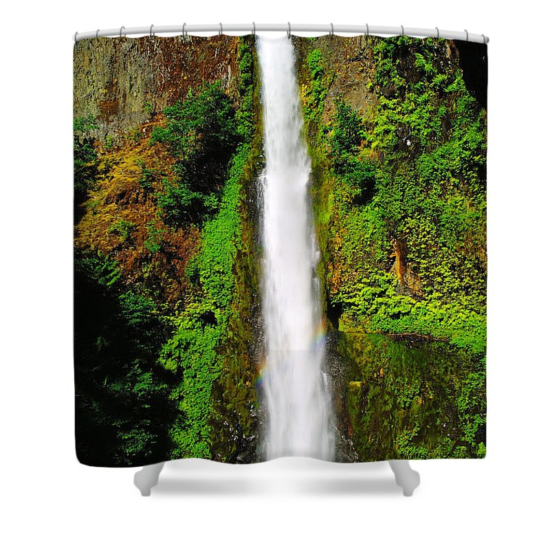 Water Shower Curtain featuring the photograph Tunnel Falls  by Jeff Swan