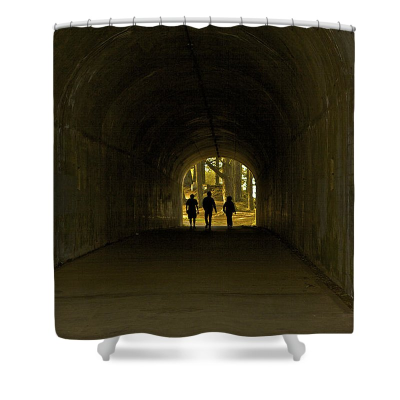 Tunnel Shower Curtain featuring the photograph Tunnel Vision Trio by SC Heffner