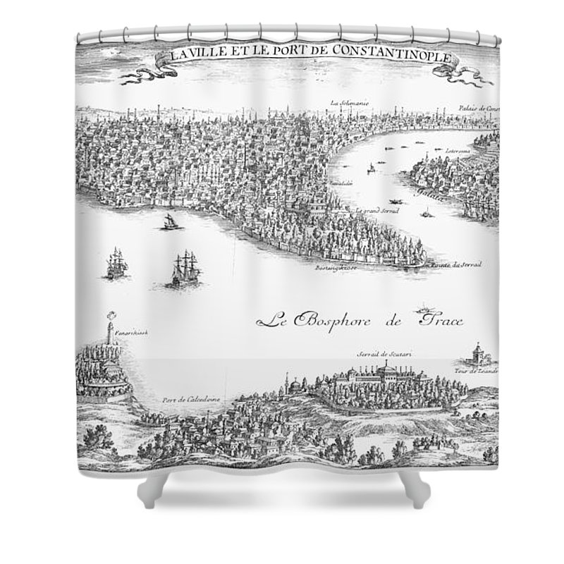 1680 Shower Curtain featuring the photograph Turkey: Istanbul, 1680 by Granger