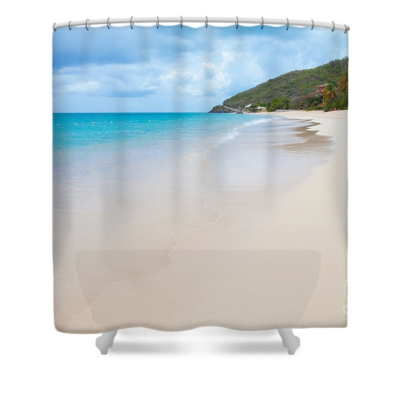 Turner Beach Shower Curtain Featuring The Photograph Antigua By Diane Macdonald