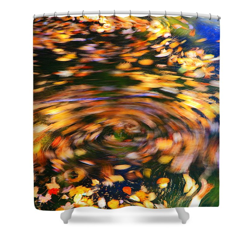 Turning Leaves Shower Curtain featuring the photograph Turning Leaves by Roupen Baker