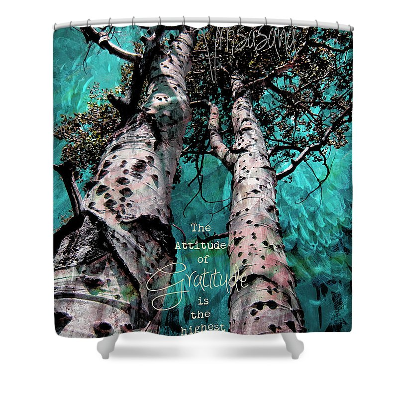 Turquois Shower Curtain featuring the photograph Turquois Trees by Cindy Greenstein