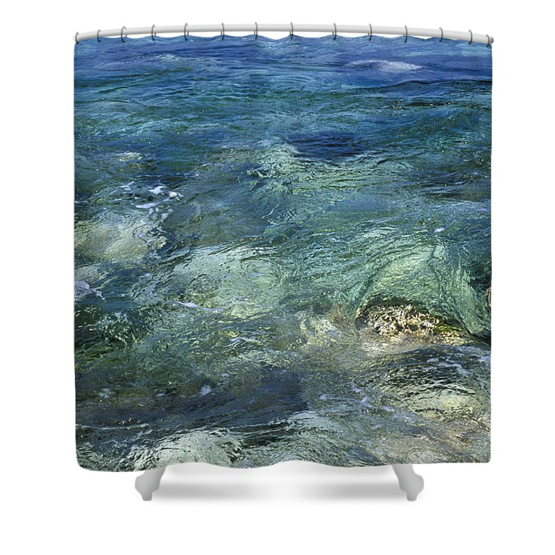 Turquoise Shower Curtain featuring the photograph Turquoise Sea by Lana Enderle