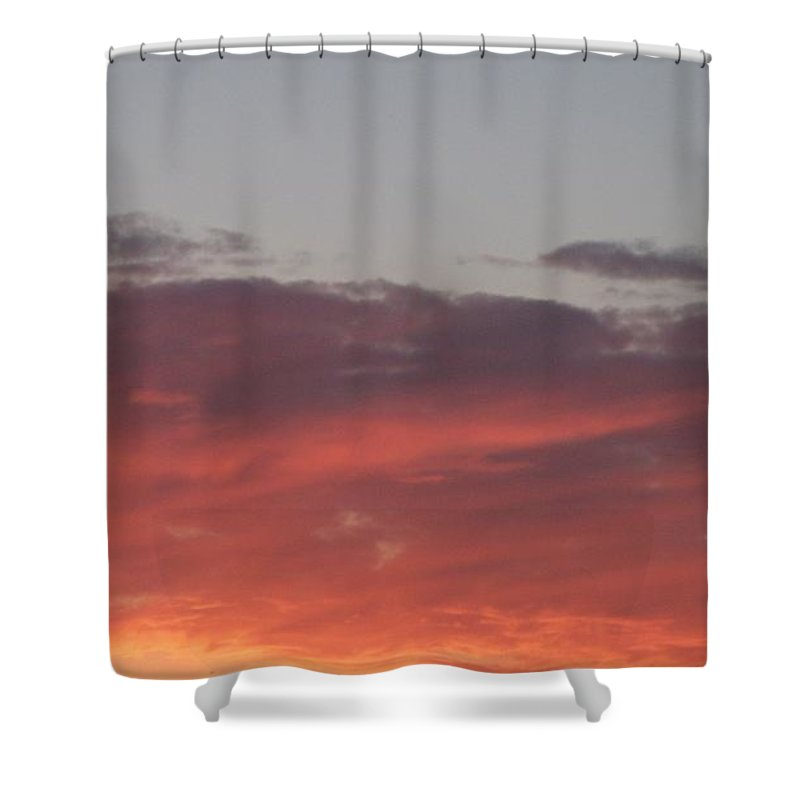 Twilight Shower Curtain featuring the photograph Twilight Clouds by Eric Schiabor