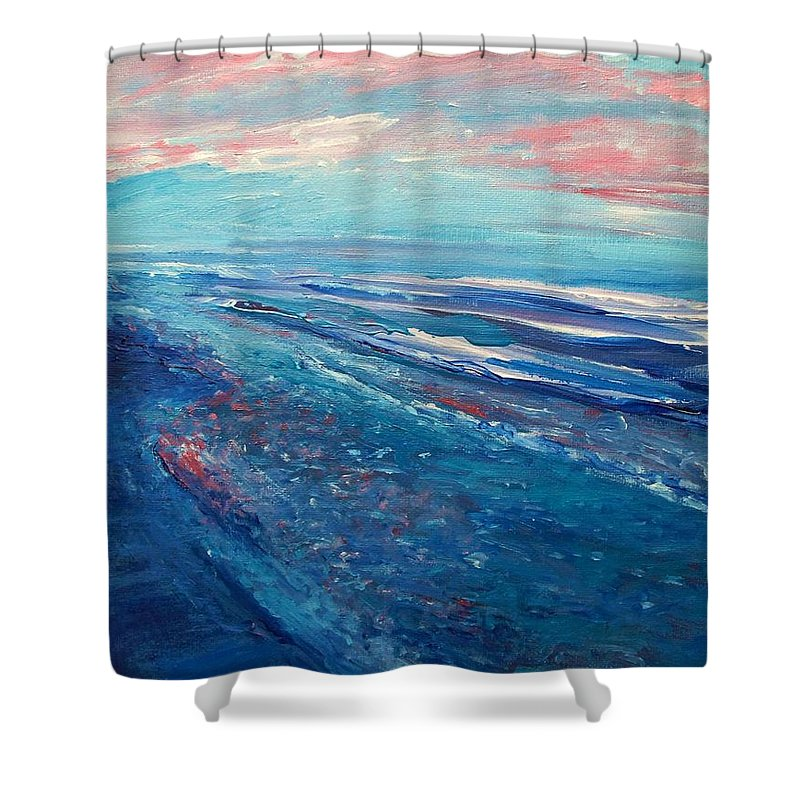 The Actor Shower Curtain featuring the painting Twilight by Eric Schiabor
