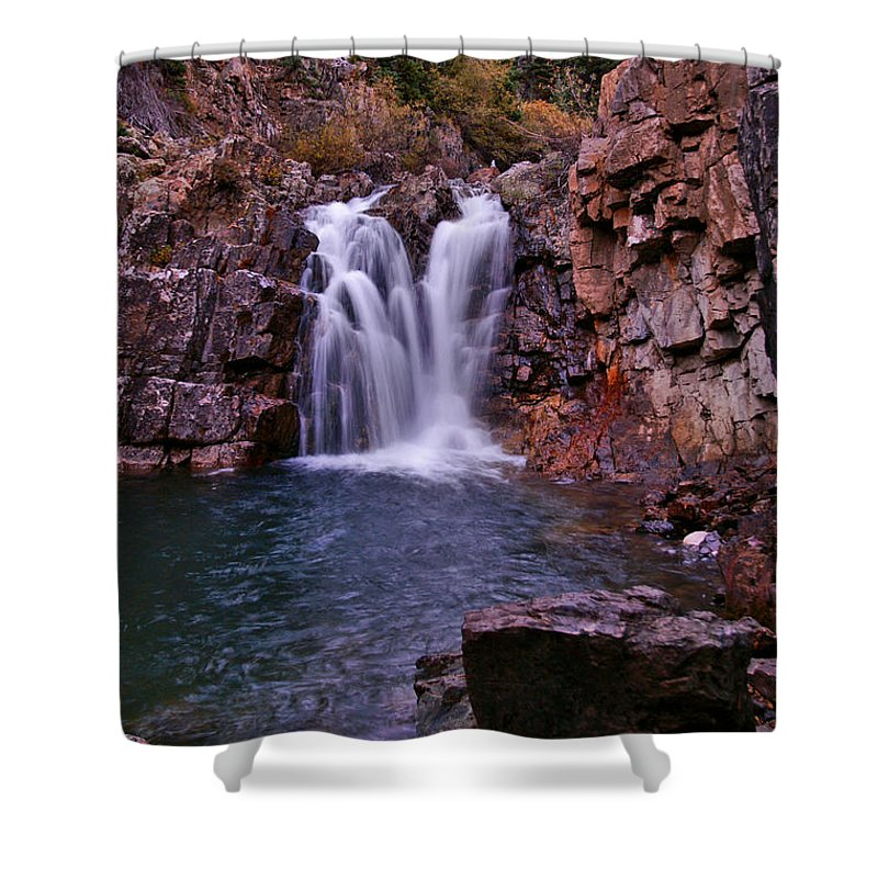 Colorado Shower Curtain featuring the photograph Twilight Falls 2 by Jeremy Rhoades