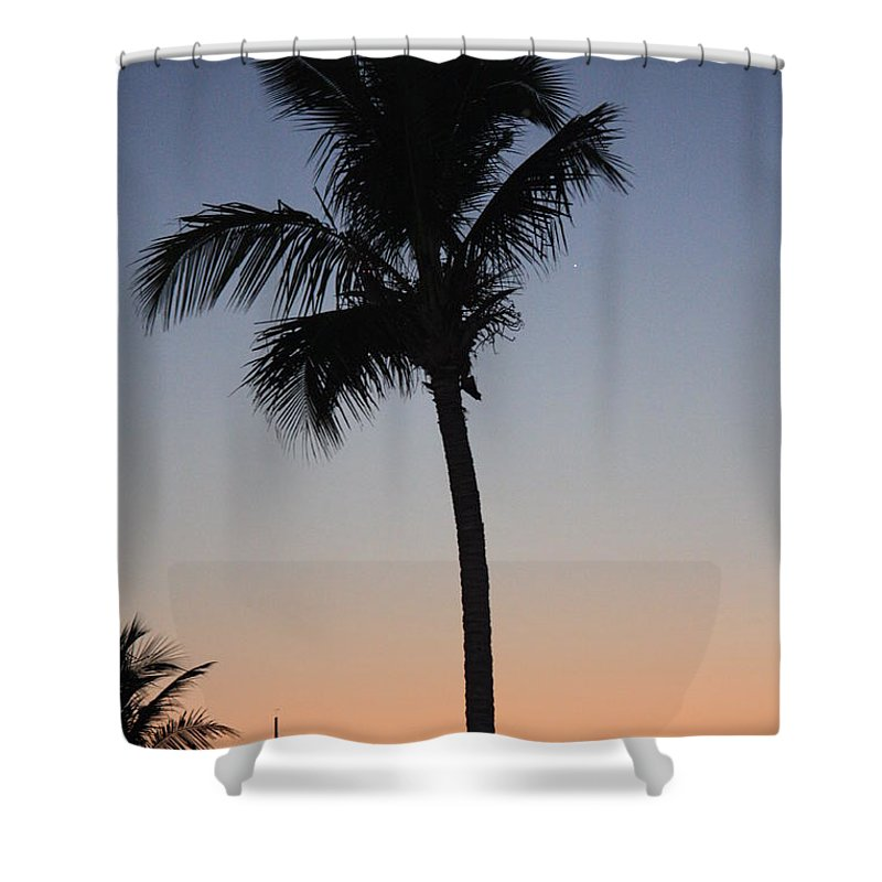Twilight Shower Curtain featuring the photograph Twilight In Fort Myers by Nunweiler Photography