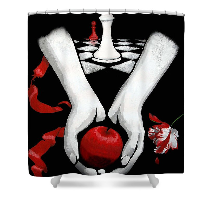 Twilight Shower Curtain featuring the painting Twilight Saga by Dale Loos Jr
