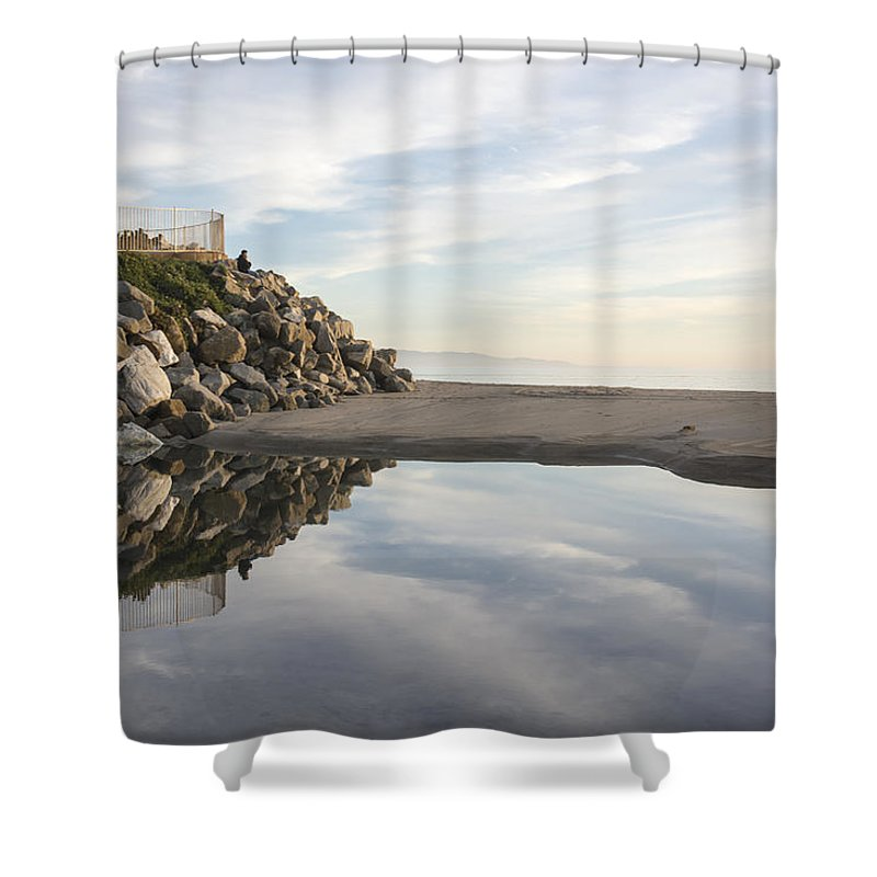 Beach Shower Curtain featuring the photograph Twin Lakes Beach by Bruce Frye