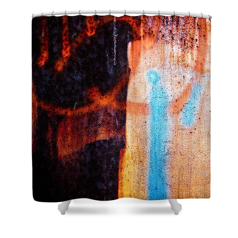 Abstract Shower Curtain featuring the photograph Two As One by Bob Orsillo