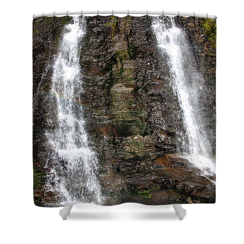 Alamere Falls Shower Curtain featuring the photograph Two Falls by Garry Gay