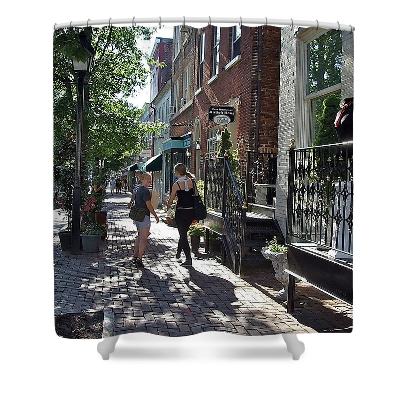 Young Shower Curtain featuring the photograph Two Friends In Alexandria by Susan Wyman