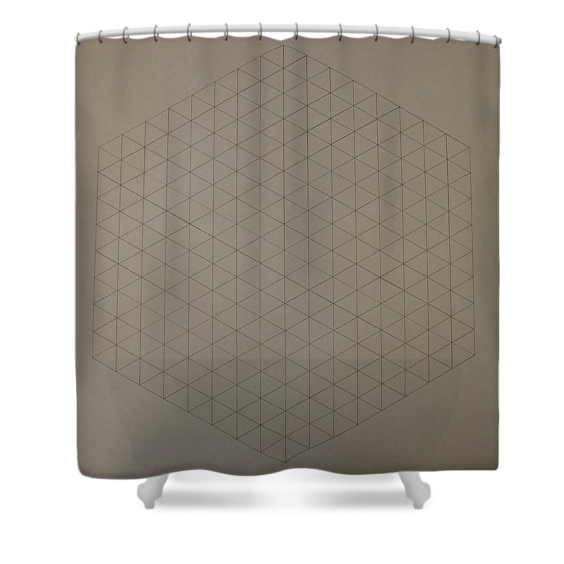Math Shower Curtain featuring the drawing Two To The Power Of Nine Or Eight Cubed by Jason Padgett