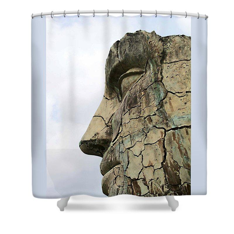 Tyndareus Cracked Shower Curtain featuring the photograph Tyndareus Cracked 1 by Ellen Henneke