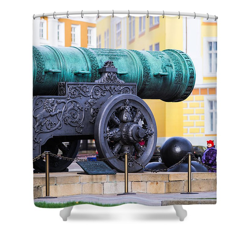 Architecture Shower Curtain featuring the photograph Tzar Cannon Of Moscow Kremlin by Alexander Senin