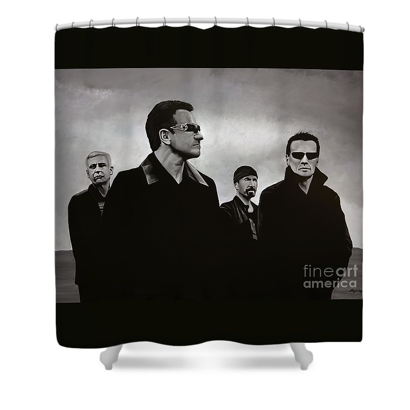 U2 Shower Curtain featuring the painting U2 by Paul Meijering