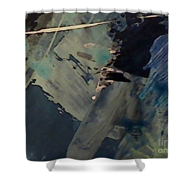 Abstract Shower Curtain featuring the painting UK by Mark Herman