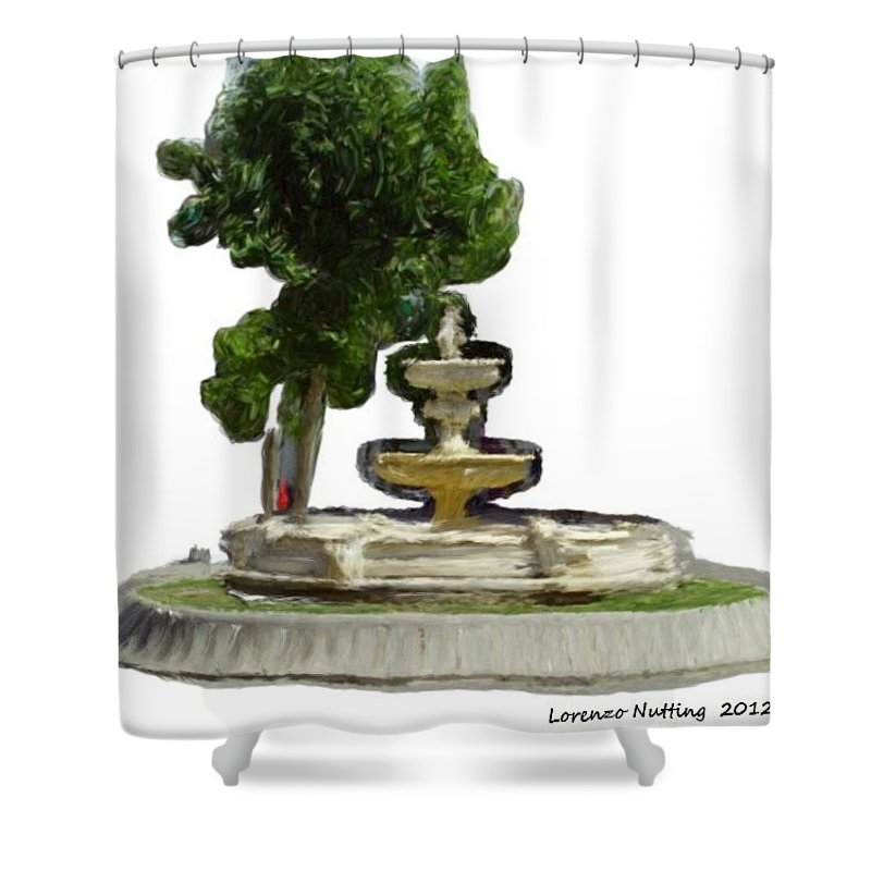 Fountain Shower Curtain featuring the painting Una Fuente En Ecija Spain by Bruce Nutting