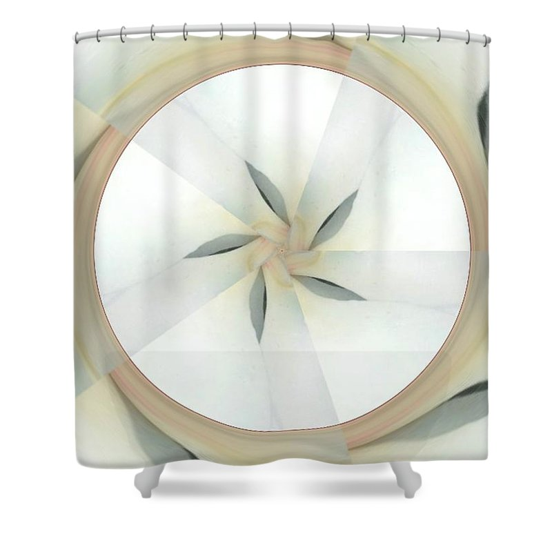 Circles Shower Curtain featuring the digital art Unchangeable by Tina Vaughn