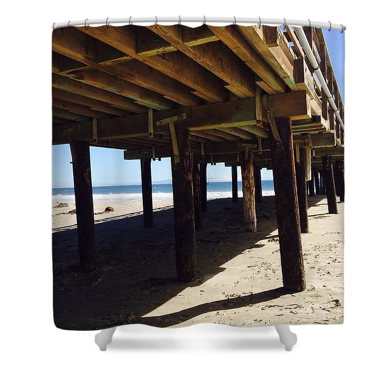 Pier Shower Curtain featuring the photograph Under The Boardwalk by Michele Monk