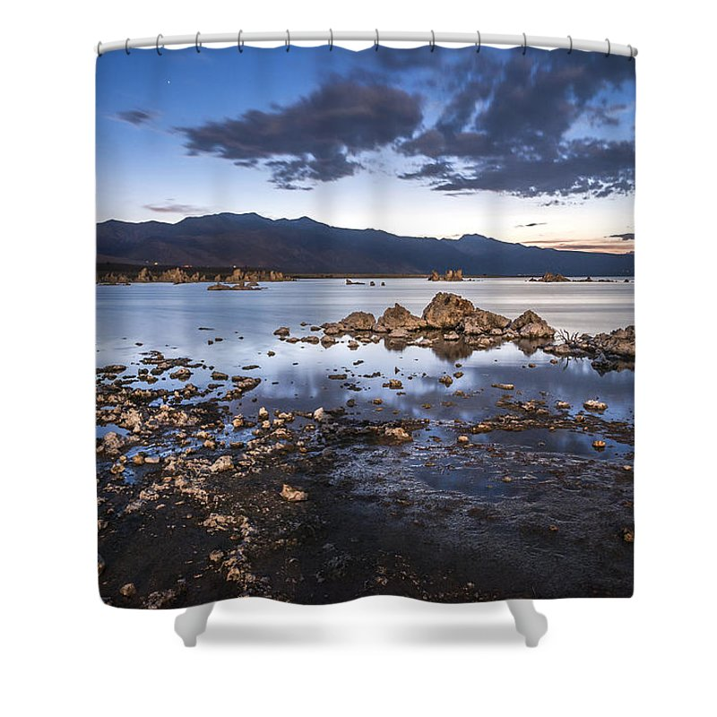 California Shower Curtain featuring the photograph Under The Light Of The Full Moon by Cat Connor