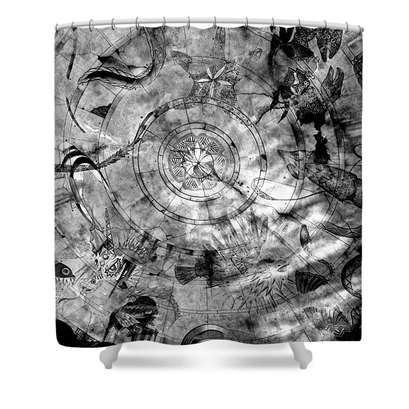 Atlantis Shower Curtain featuring the photograph Under The Sea Ceiling by Alanna DPhoto