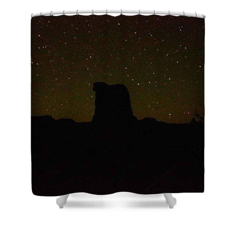 Stars Shower Curtain featuring the photograph Under The Starry Sky by Jeff Swan