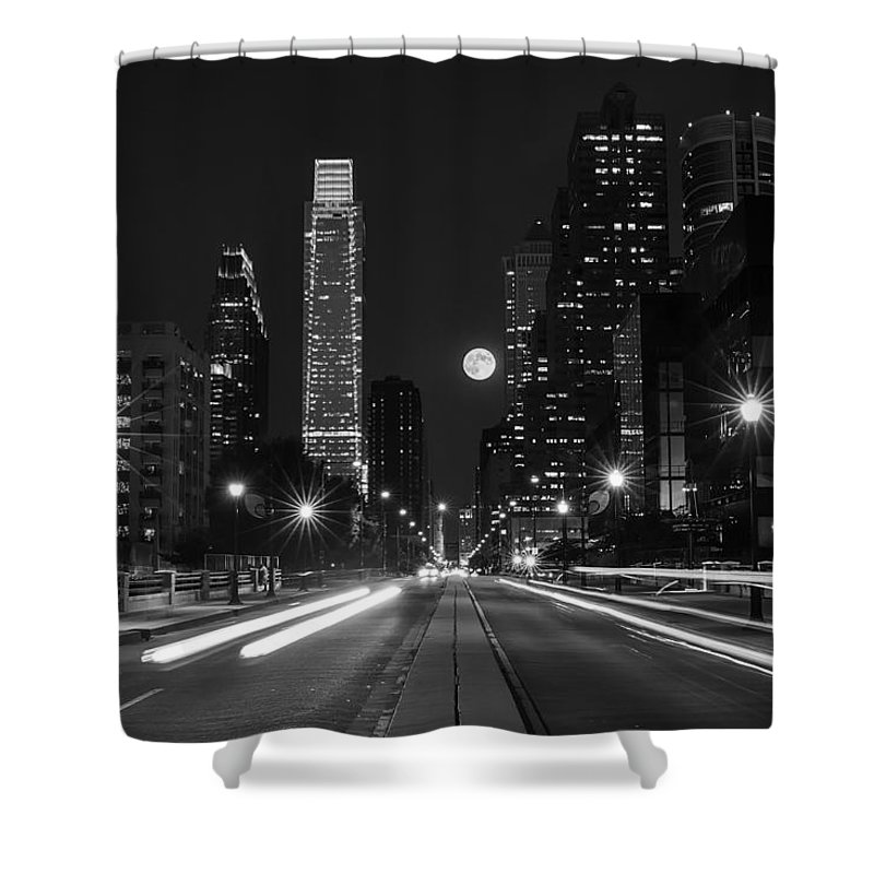 Long Exposure Shower Curtain featuring the photograph Under The Stars by Rob Dietrich
