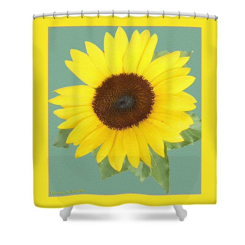 Sunflower Shower Curtain featuring the photograph Under The Sunflower's Spell by Patricia Keller