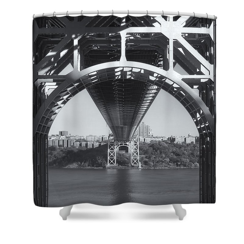 Clarence Holmes Shower Curtain featuring the photograph Underneath The George Washington Bridge Iv by Clarence Holmes