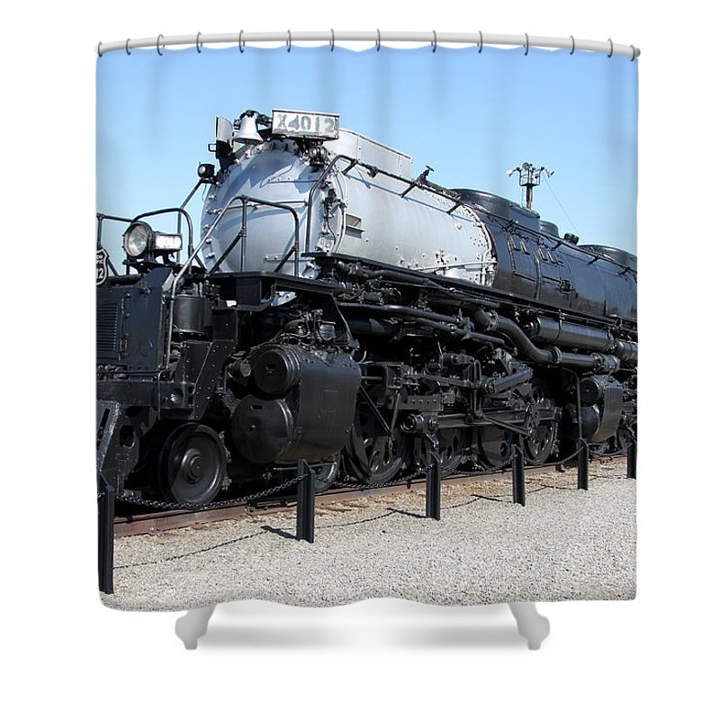 Union Pacific Big Boy Shower Curtain featuring the photograph Union Pacific Big Boy by Christiane Schulze Art And Photography