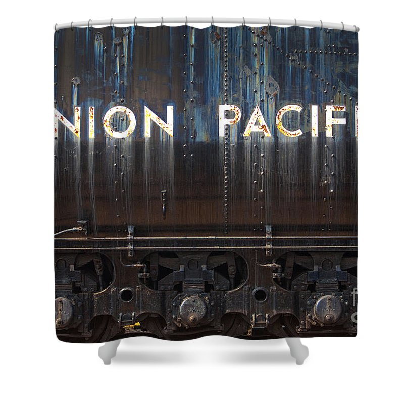 Railroad Shower Curtain featuring the photograph Union Pacific - Big Boy Tender by Paul W Faust - Impressions of Light