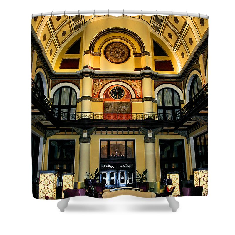 Union Station Lobby Shower Curtain featuring the photograph Union Station Lobby Larger by Kristin Elmquist