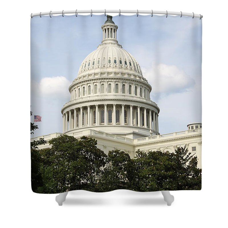 Capitol Shower Curtain featuring the photograph United State Capitol Dome Washington Dc by Christiane Schulze Art And Photography