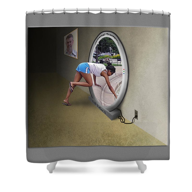2d Shower Curtain featuring the photograph Universal Portal by Brian Wallace