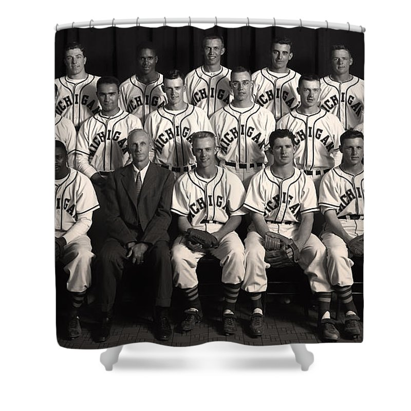 University Of Michigan Shower Curtain Featuring The Photograph