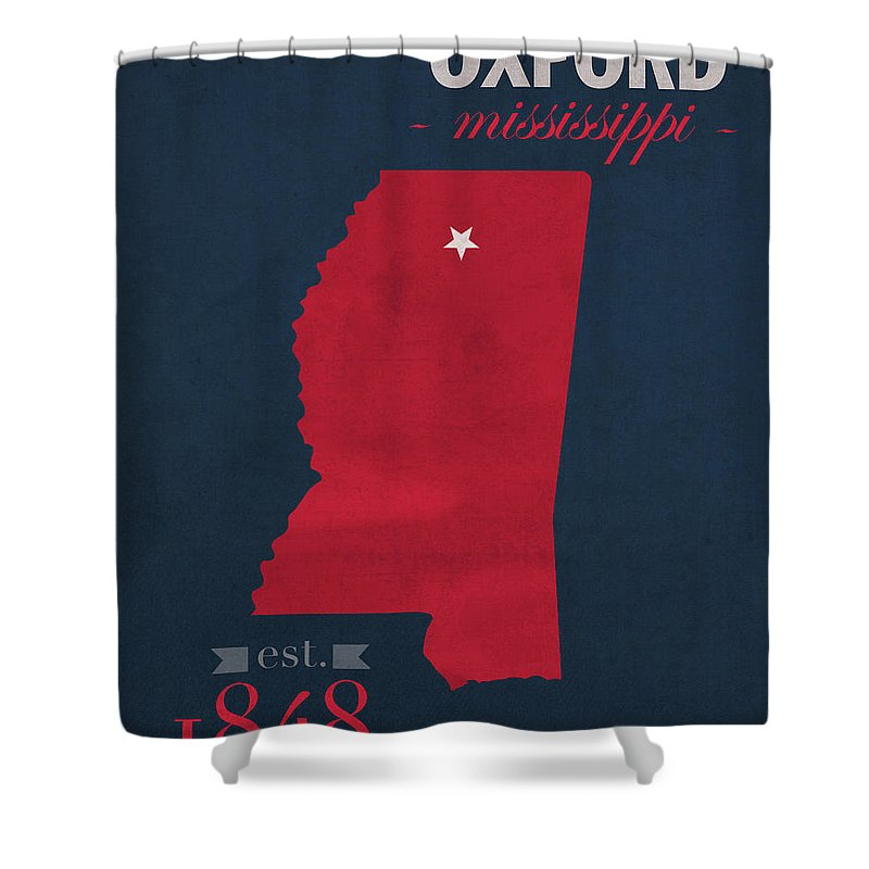 University Of Mississippi Shower Curtain Featuring The Mixed Media Ole Miss Rebels Oxford