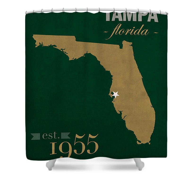 Tampa Florida Map State.University Of South Florida Bulls Tampa Florida College Town State