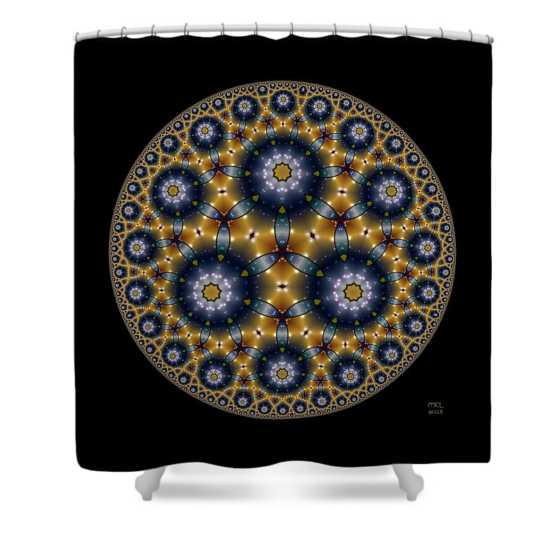 Abstract Shower Curtain featuring the digital art Unknown Unknowns by Manny Lorenzo